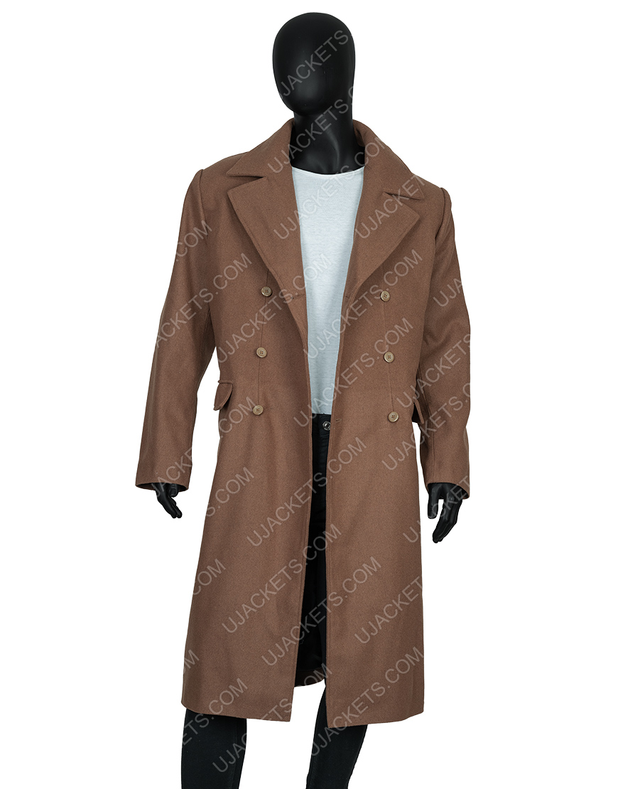 David Tennant Tenth 10th Doctor Who Long Brown Coat
