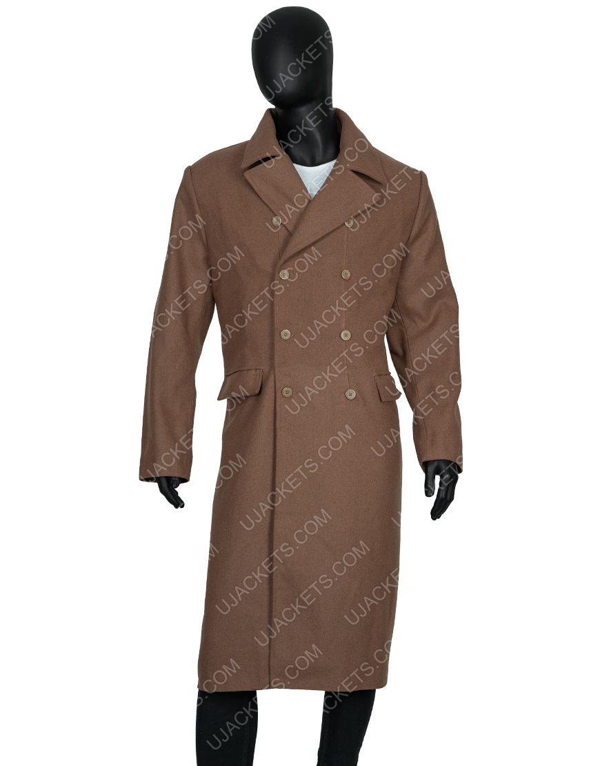 David Tennant Tenth 10th Doctor Who Long Brown Woolen Coat