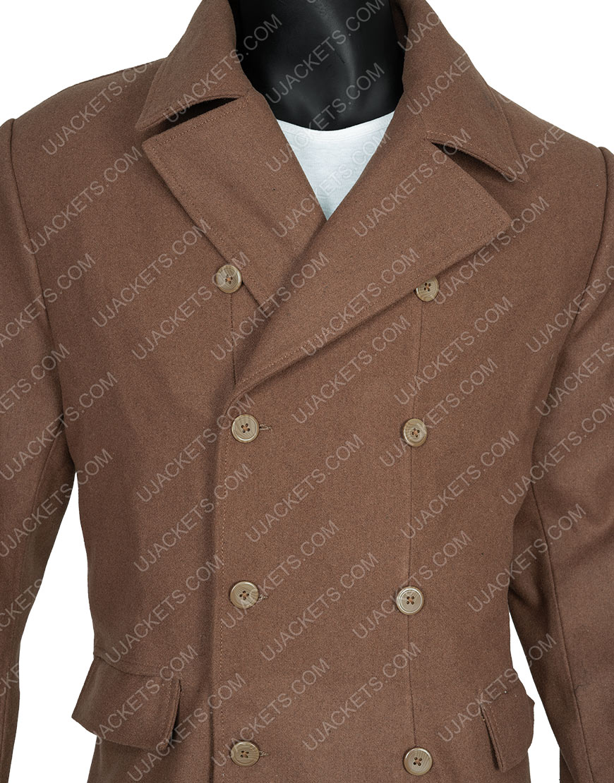 David Tennant Tenth Doctor Who Long Brown Woolen Coat