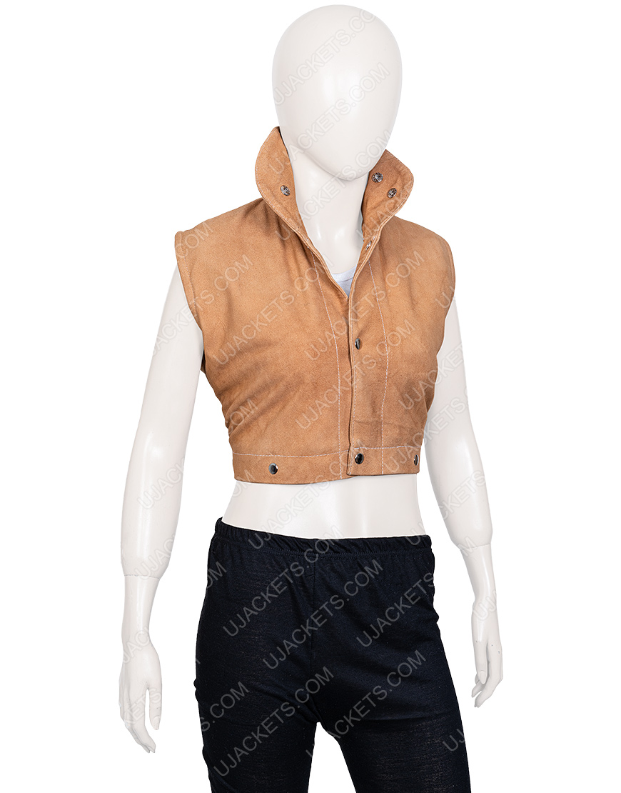 Devil May Cry 5 Nico Goldstein Suede Leather Cropped Jacket