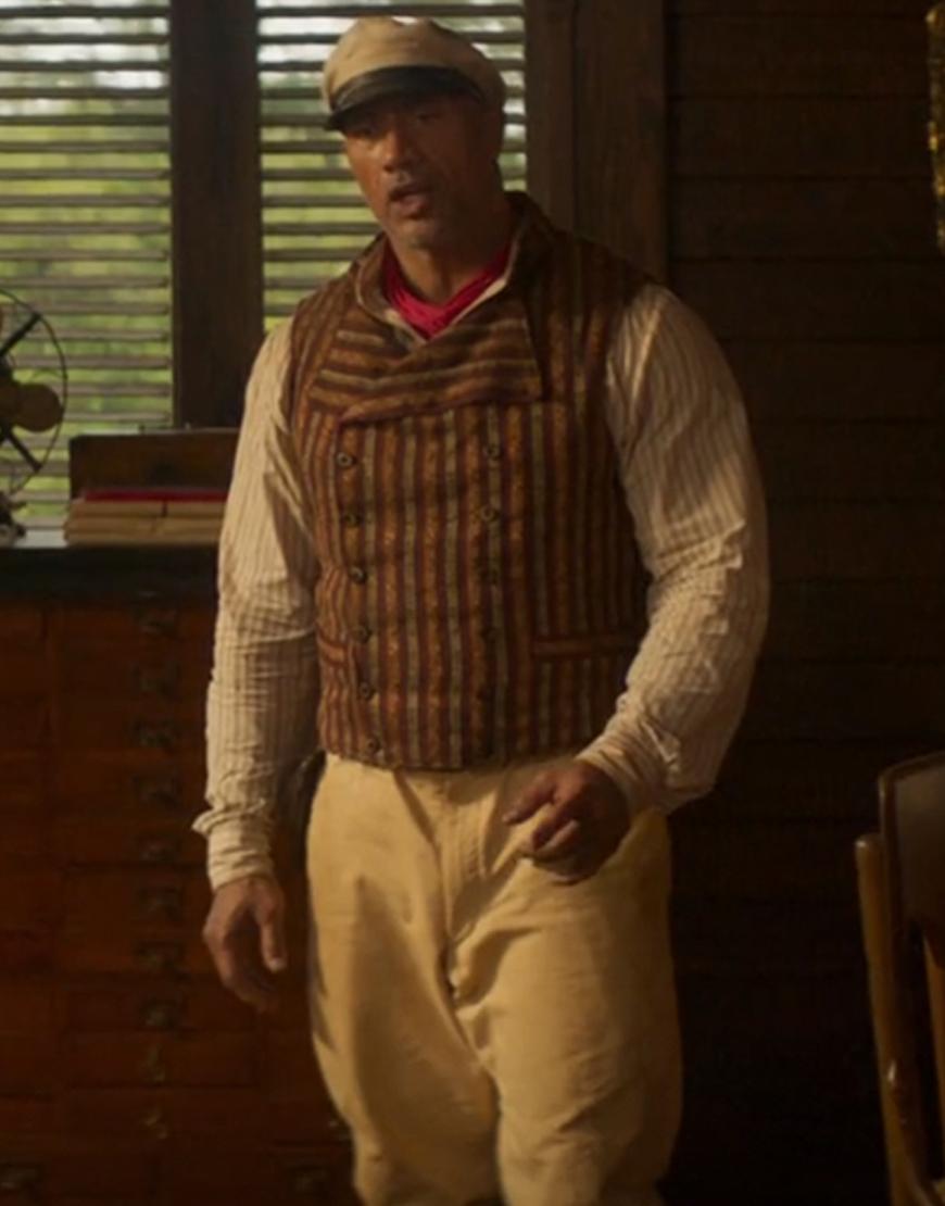 Frank Jungle Cruise Dwayne Johnson Brown Cotton Vest