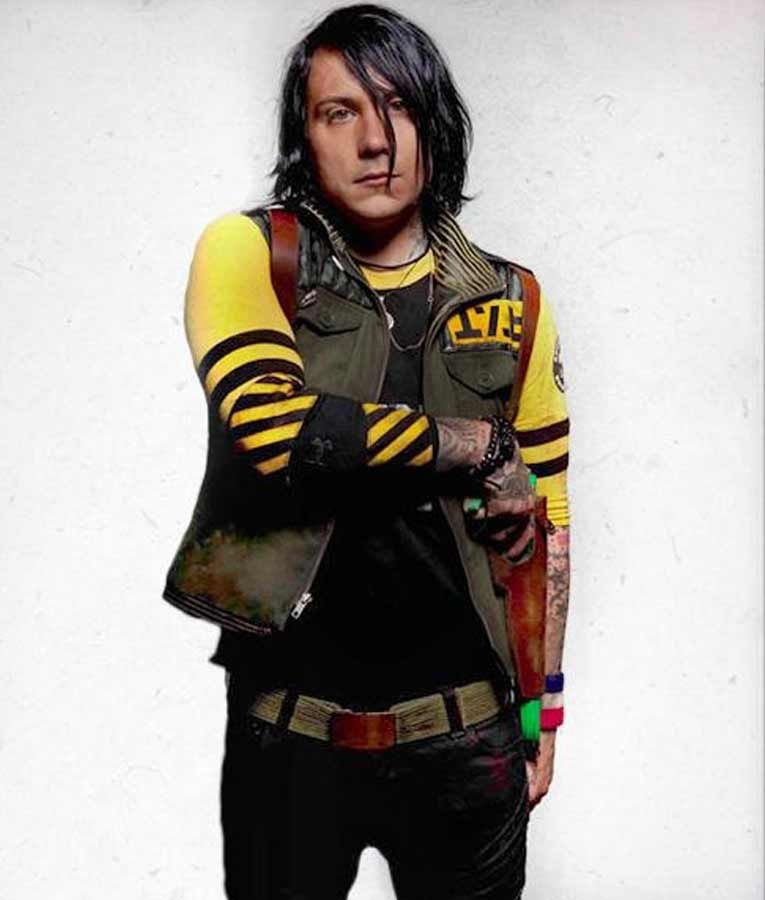 Frank Lero Killjoys Danger Days MCR Leather Vest
