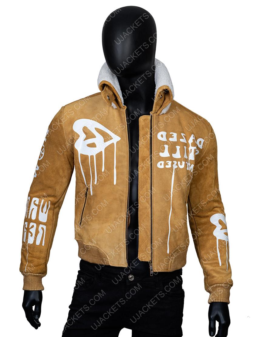 Gigi Hadid Camel Bomber Jacket