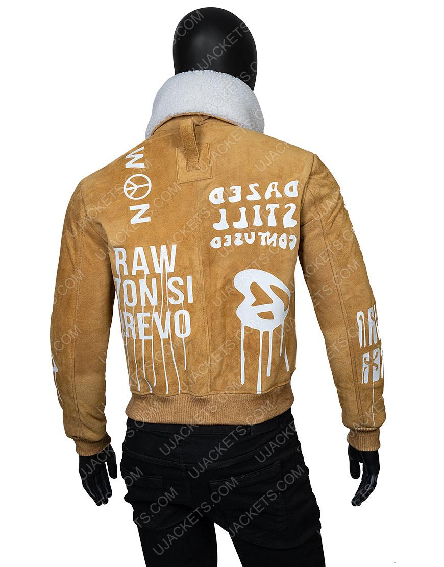 Gigi Hadid Camel Suede Jacket