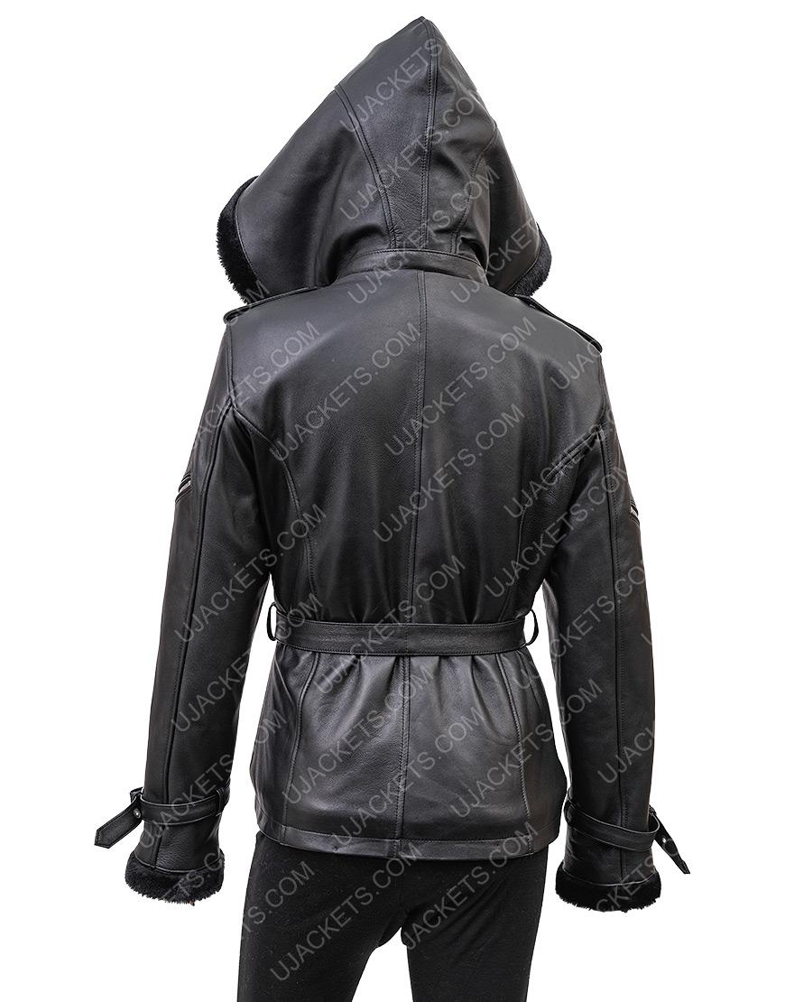 Jennifer Morrison Once Upon A Time Emma Swan Black Leather Jacket