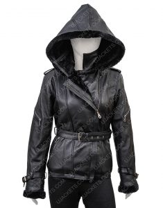 Jennifer Morrison Once Upon A Time Emma Swan Hoodie Black Leather Jacket