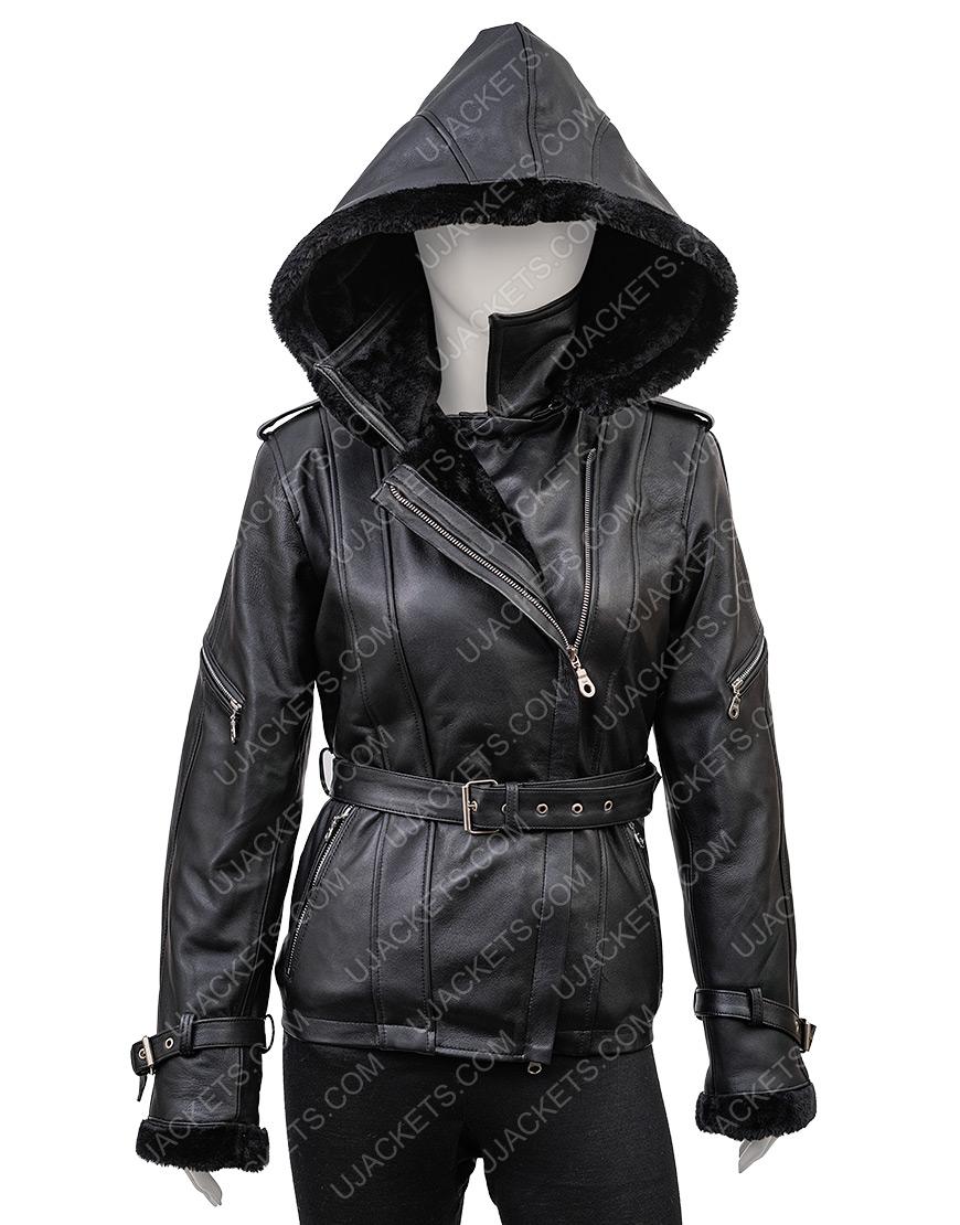 Jennifer Morrison Once Upon A Time Emma Swan Hoodie Black Leather Jacket