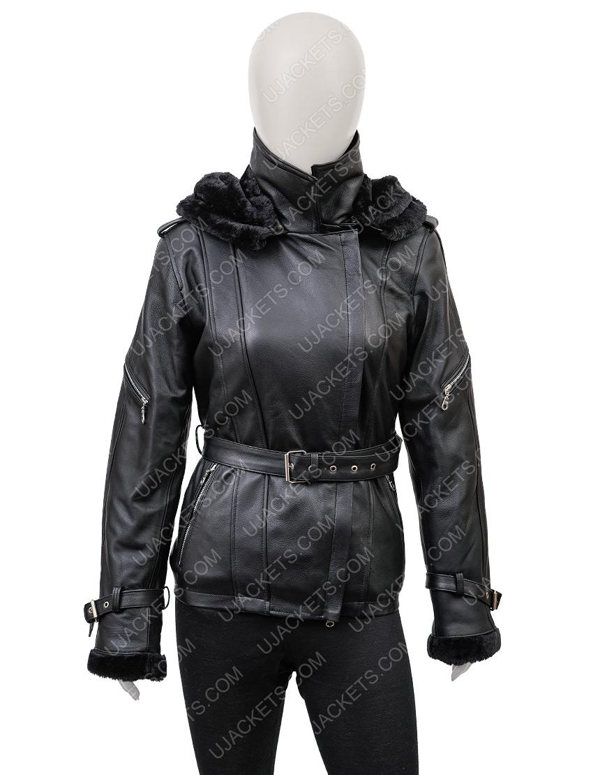 Jennifer Morrison Once Upon A Time Emma Swan Hoodie Leather Jacket