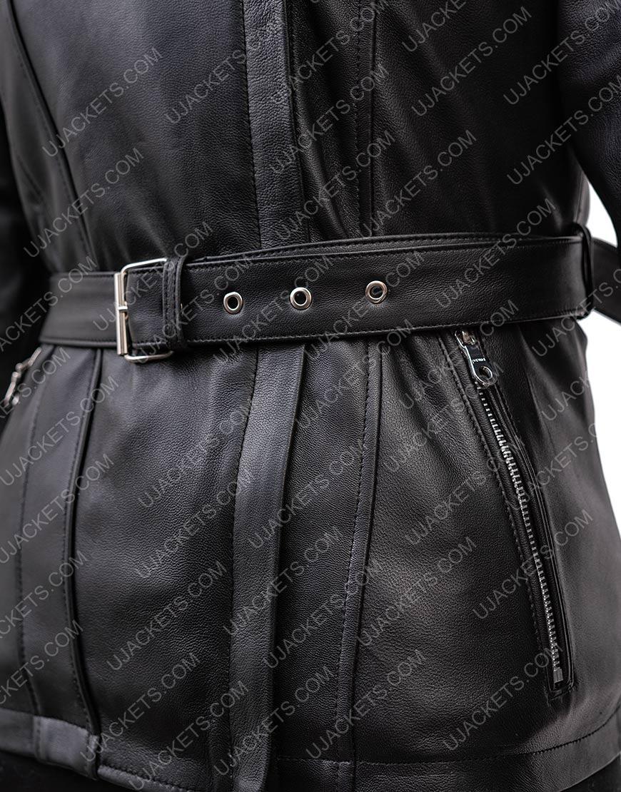 Jennifer Morrison Once Upon A Time Hoodie Black Leather Jacket