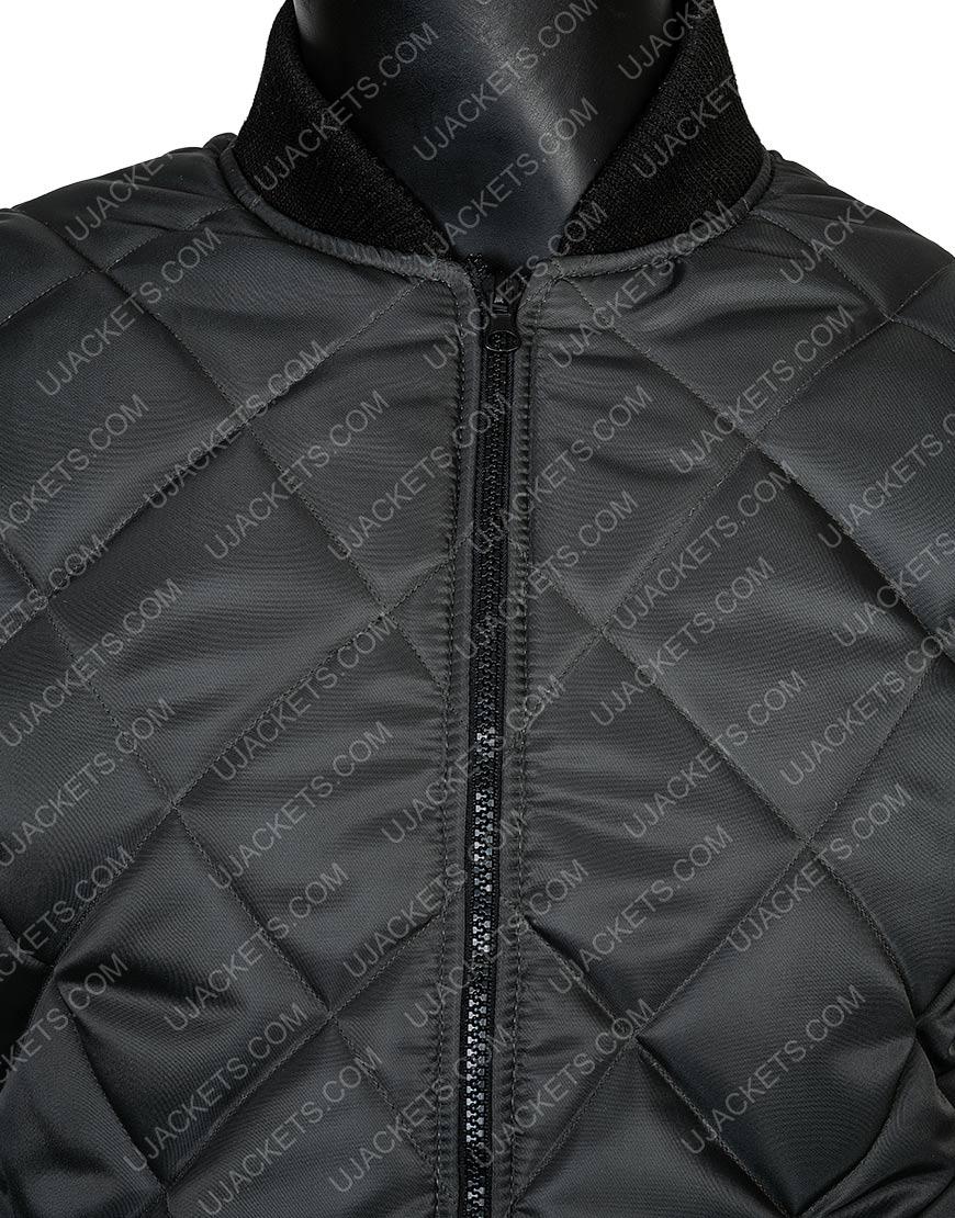 Michael B. Jordan Creed Grey Quilted Vest