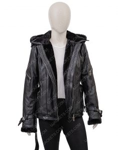 Once Upon A Time Emma Swan Hoodie Black Leather Jacket