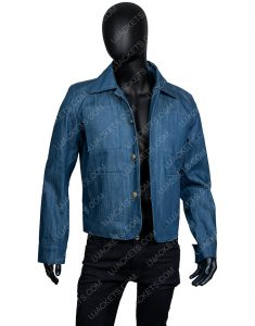 Penn Badgley You Season 2 Joe Goldberg Blue Denim Jacket
