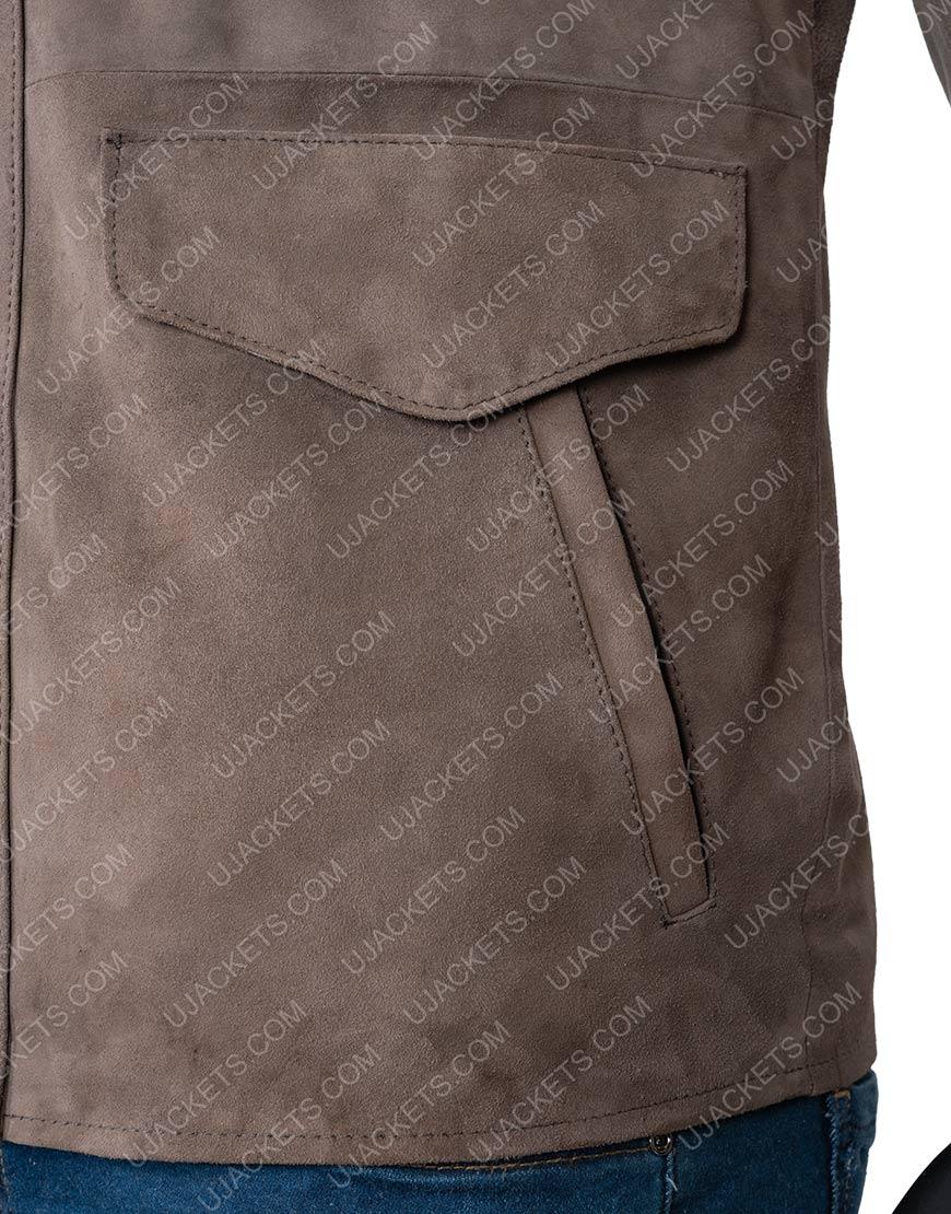 Richard Armitage The Stranger Adam Brown Suede Leather Jacket