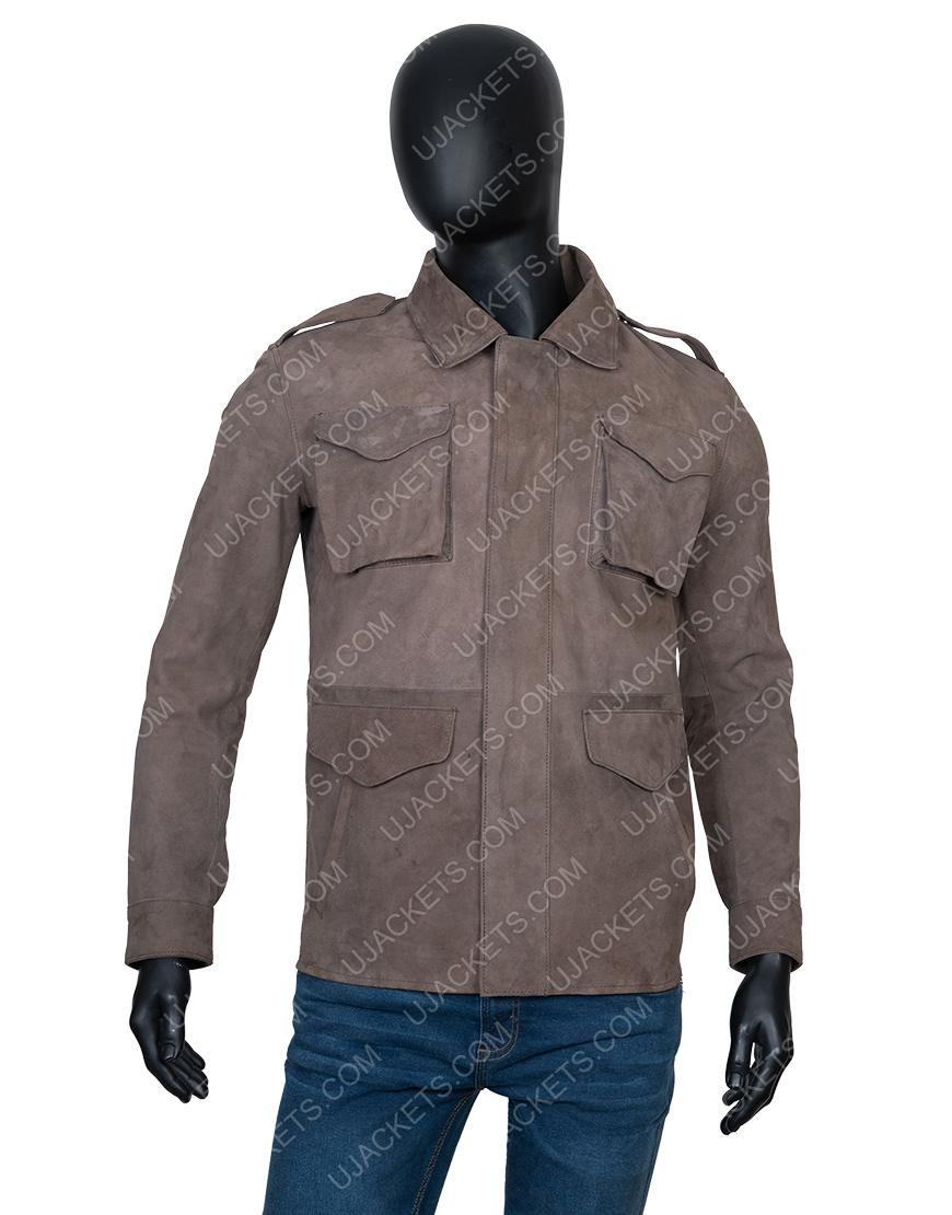 Richard Armitage The Stranger Adam Price Brown Leather Jacket