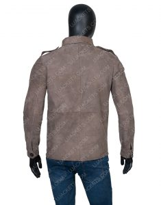 Richard Armitage The Stranger Adam Price Brown Suede Jacket
