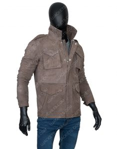 Richard Armitage The Stranger Adam Price Suede Leather Jacket