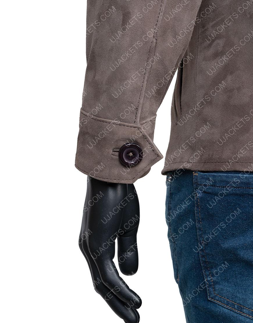 Richard Armitage The Stranger Brown Suede Leather Jacket
