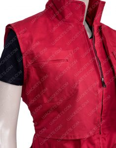 Taylor Russell Lost In Space S02 Red Judy Robinson Vest