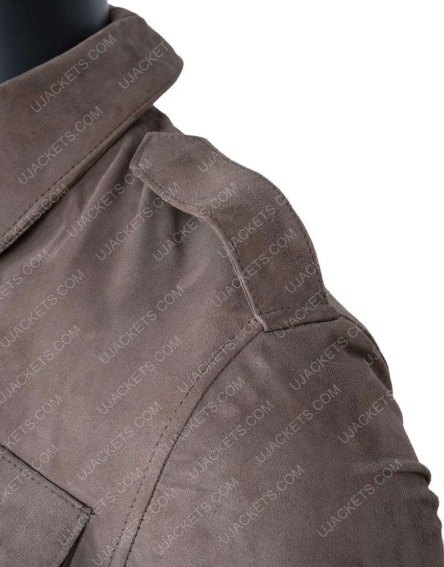 The Stranger Richard Armitage Suede Leather Jacket