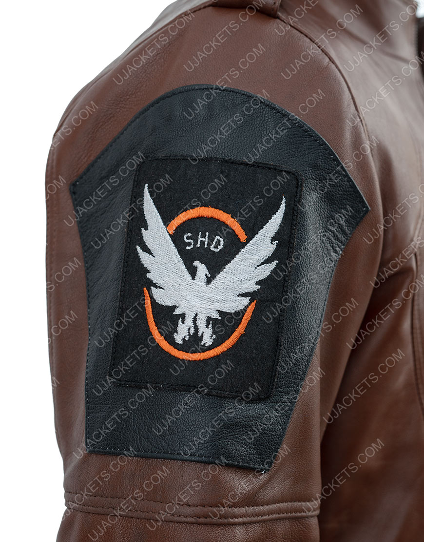 Tom Clancy'The Division Distressed Brown Leather Jacket