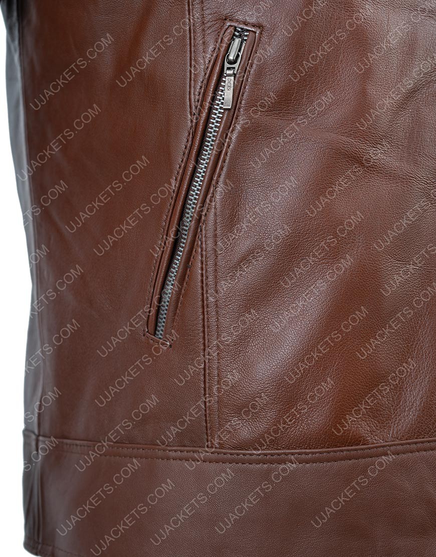 Tom Clancy The Division Distressed Brown Leather Jacket