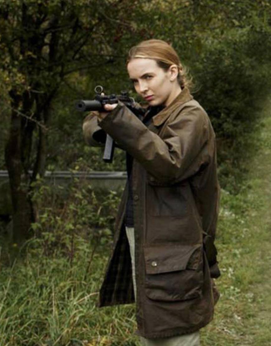 Villanelle-Killing-Eve-Jodie-Comer-Brown-Cotton-Coat