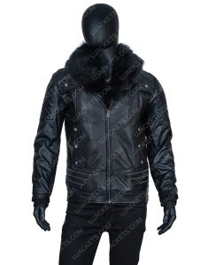 WWE Seth Rollins Fur Collar Black Jacket