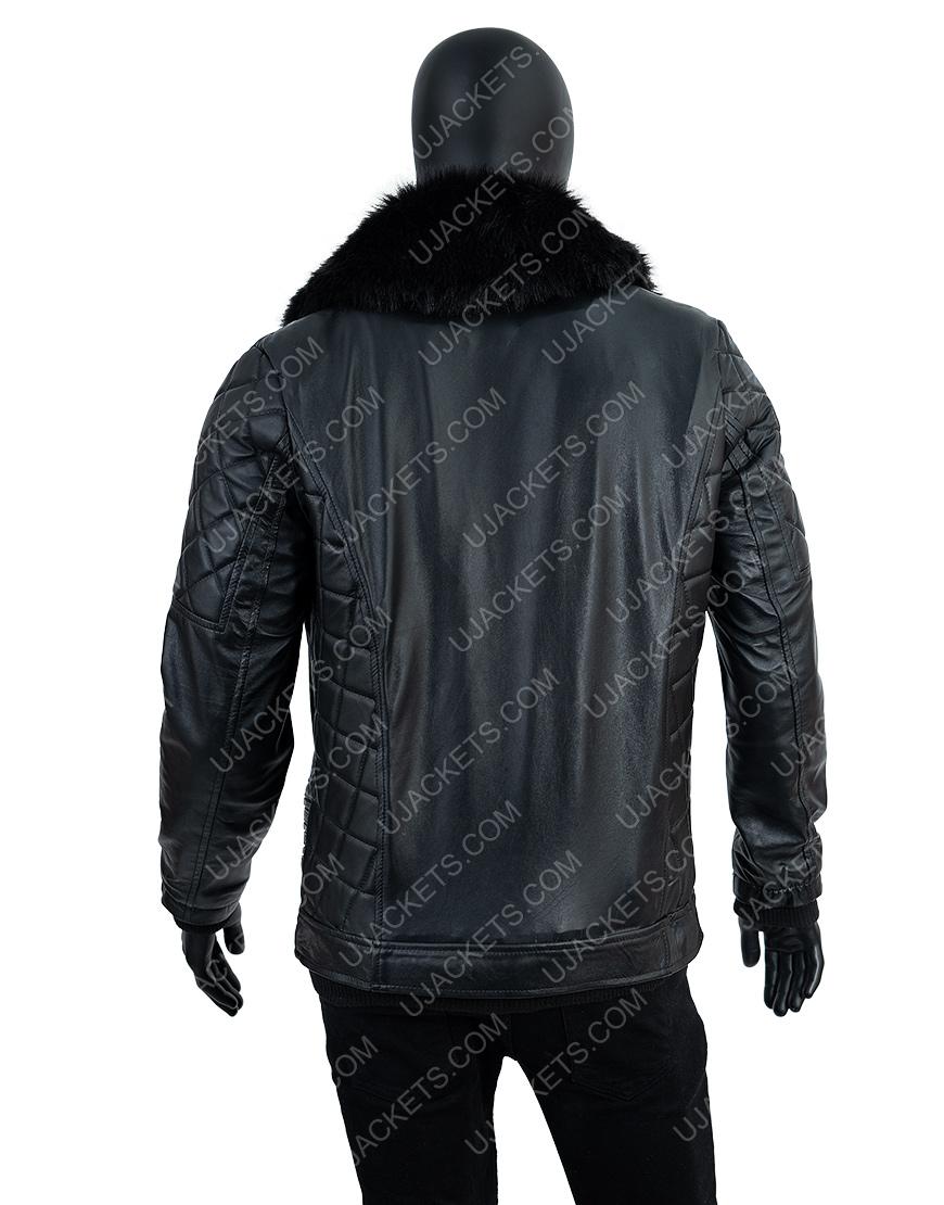 WWE Seth Rollins Fur Collar Leather Jacket