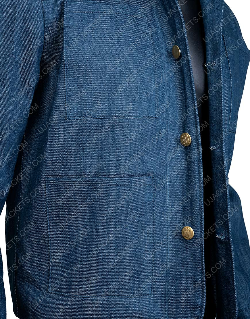 You Season 2 Penn Badgley Joe Goldberg Blue Denim Jacket