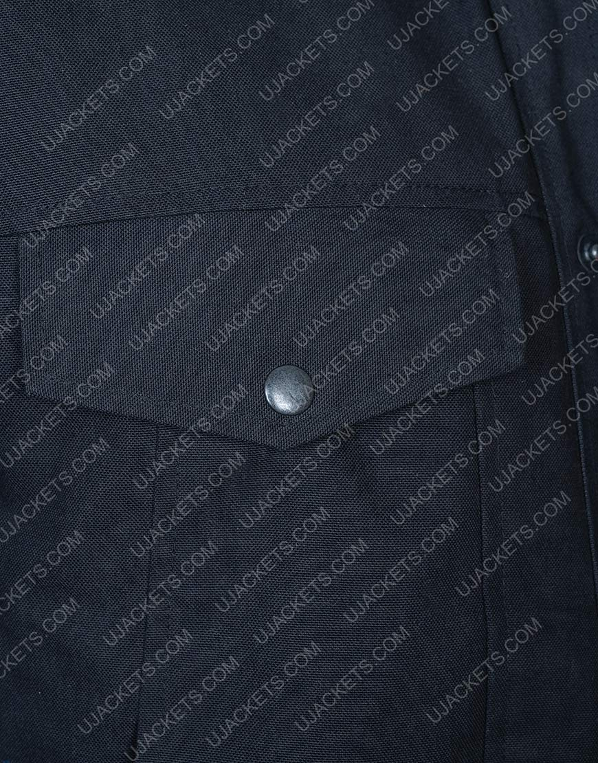 Aaron Paul Westworld Caleb Nichols Black Cotton Jacket