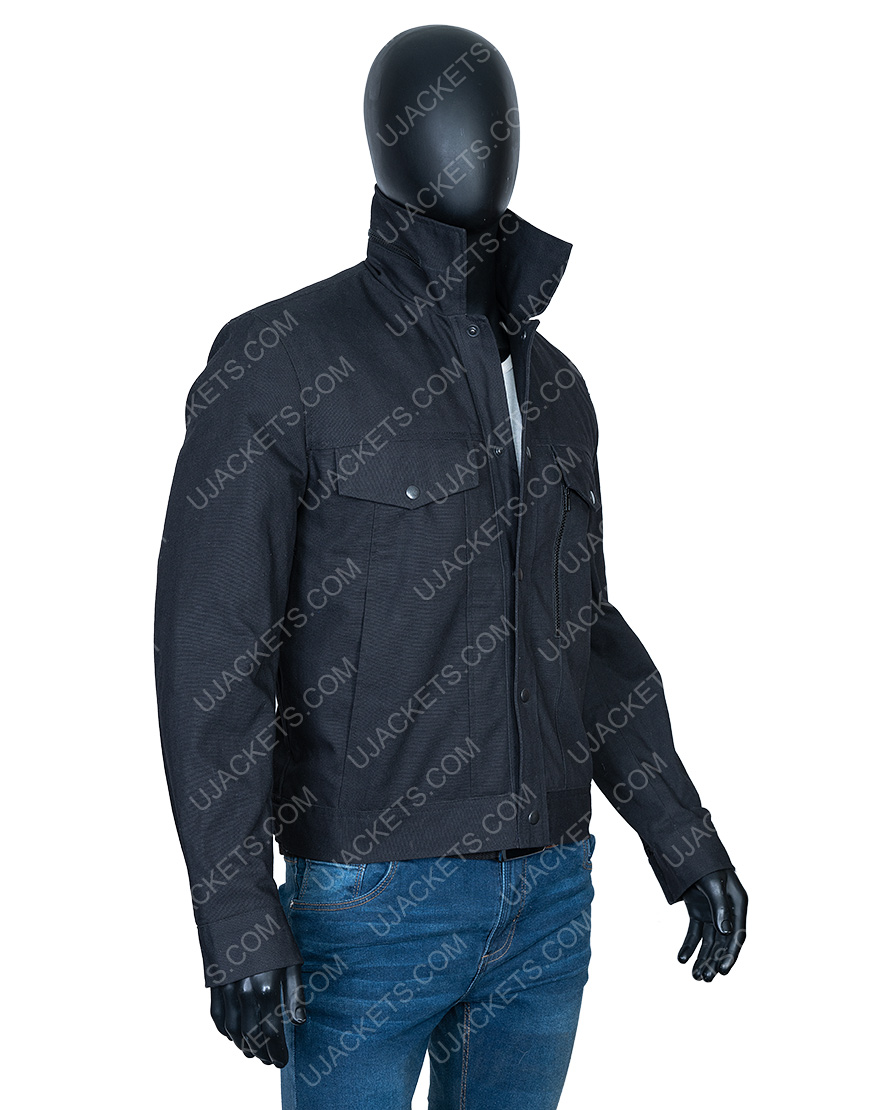 Aaron Paul Westworld Ep7 Caleb Nichols Black Cotton Jacket