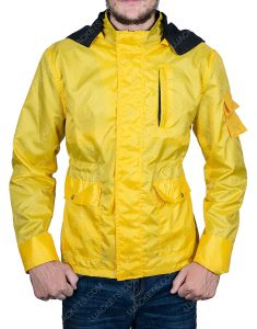 Dark Jonas Kahnwald Yellow Hooded Long Jacket
