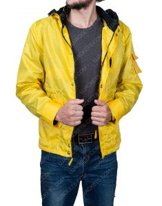 Louis Hofmann Dark Jonas Kahnwald Yellow Hooded Long Jacket
