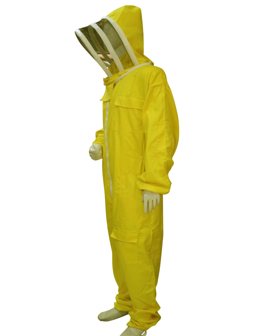 Professional-Protective-Suits-with-fencing-veil-Yellow