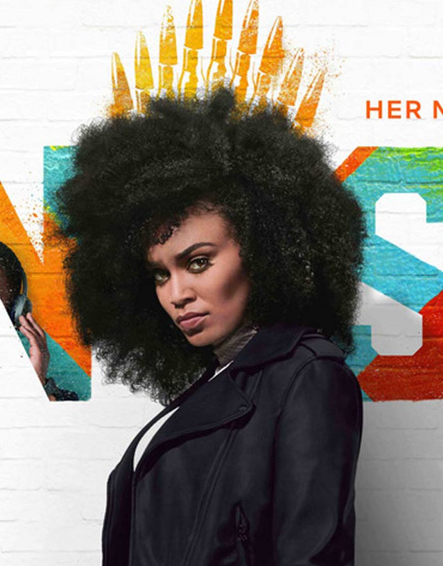 Queen-Sono-Pearl-Thusi-Black-Leather-Jacket