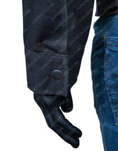 Westworld S03 Ep7 Caleb Nichols Black Cotton Jacket