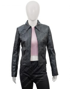 You Season 2 Candace Stone Black Leather Jacket