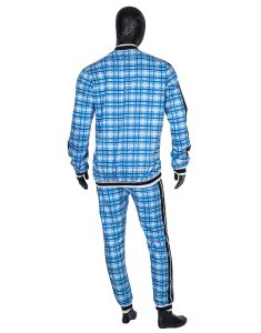 Blue Checkered The Gentlemen Coach Tracksuit