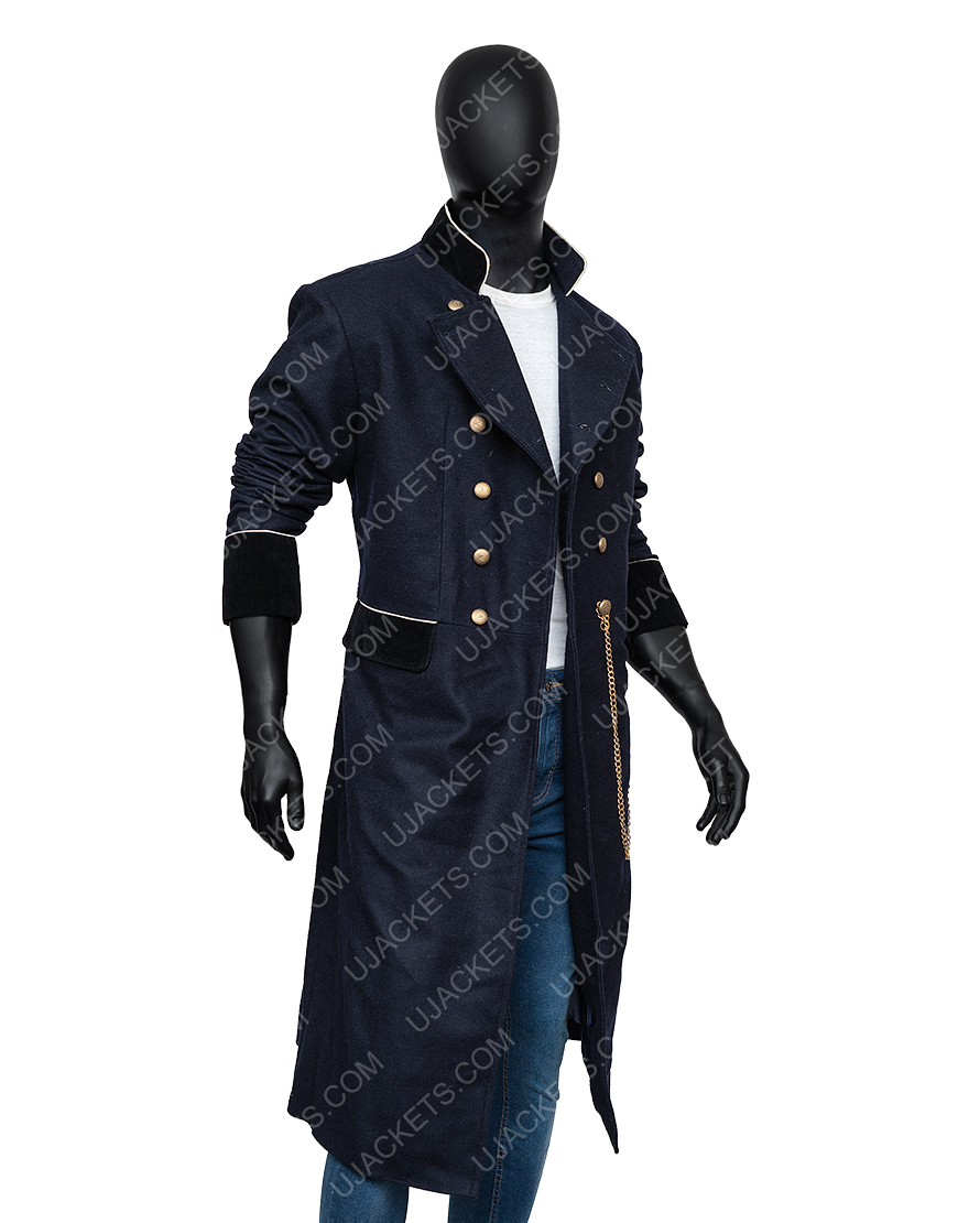 Charlie Manx NOS4A2 Zachary Quinto Blue Military Coat