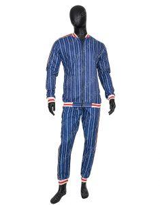 Colin Farrell The Gentlemen Coach Blue Bomber Suit