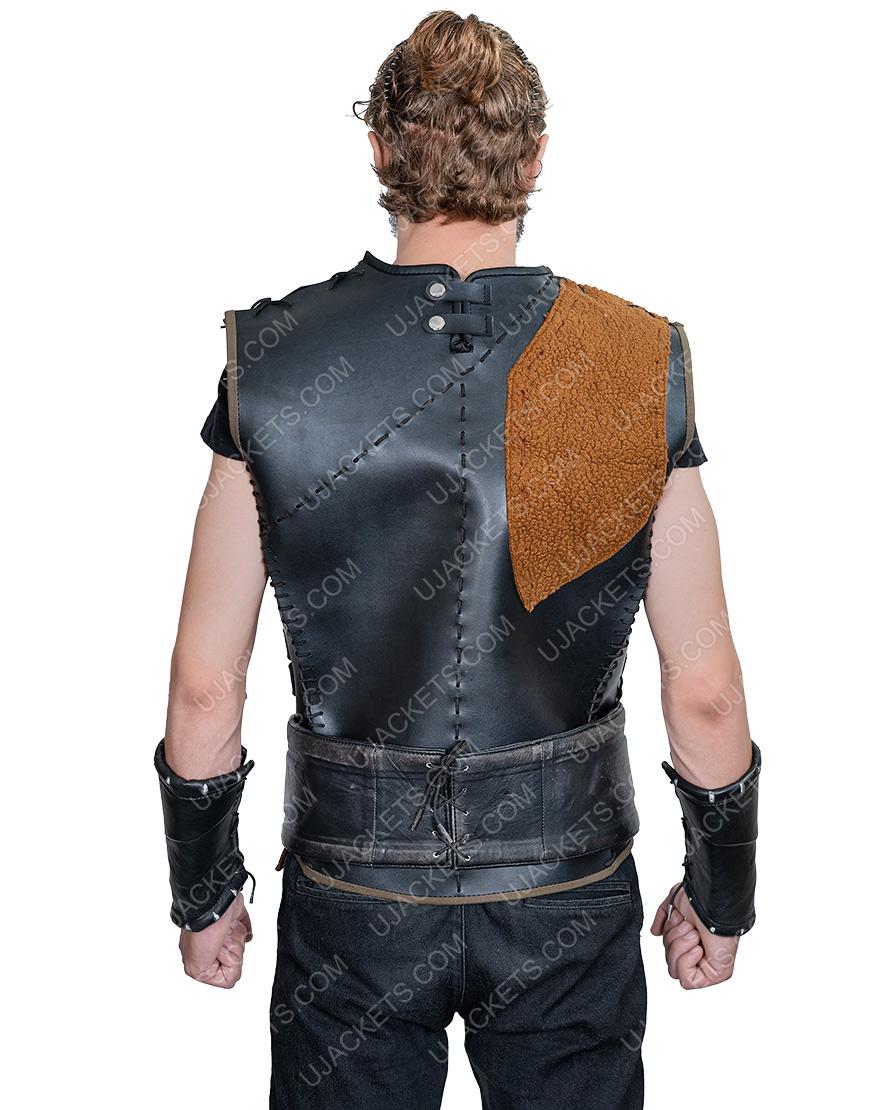 Düzyatan Dirilis Ertugrul Bey Dark Brown Leather Vest
