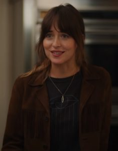 Dakota-Johnson-The-High-Note-Brown-Fringe-Jacket