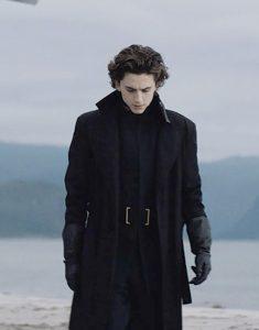 Dune Paul Atreides Black wool Coat