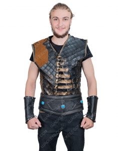 Engin Altan Düzyatan Dirilis Ertugrul Bey Dark Brown Leather Vest
