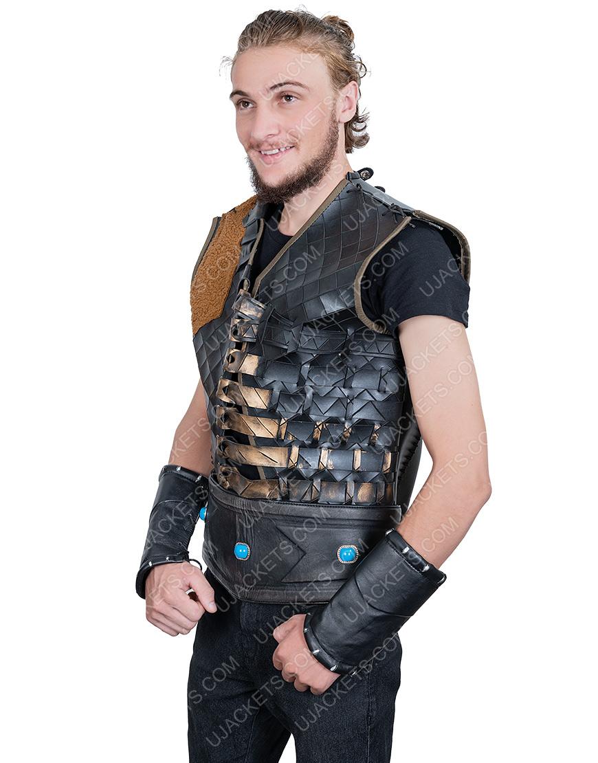 Engin Altan Düzyatan Dirilis Ertugrul Bey Dark Leather Vest