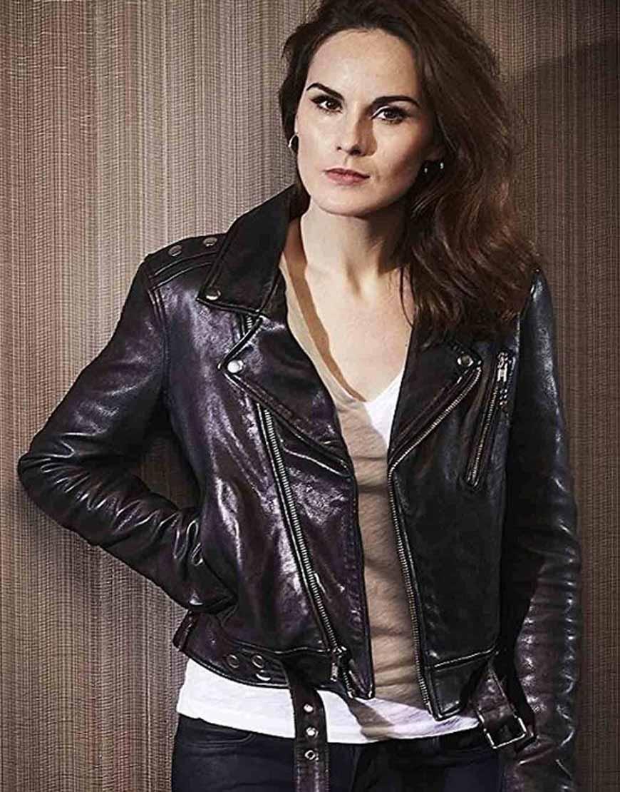 Michelle-Dockery-Good-Behavior-Leather-Jacket