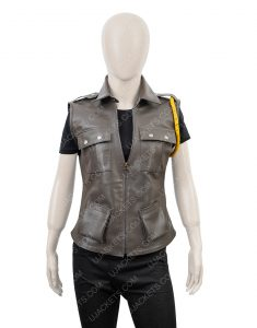 Mortal Kombat X Soldier Sonya Blade Leather Vest