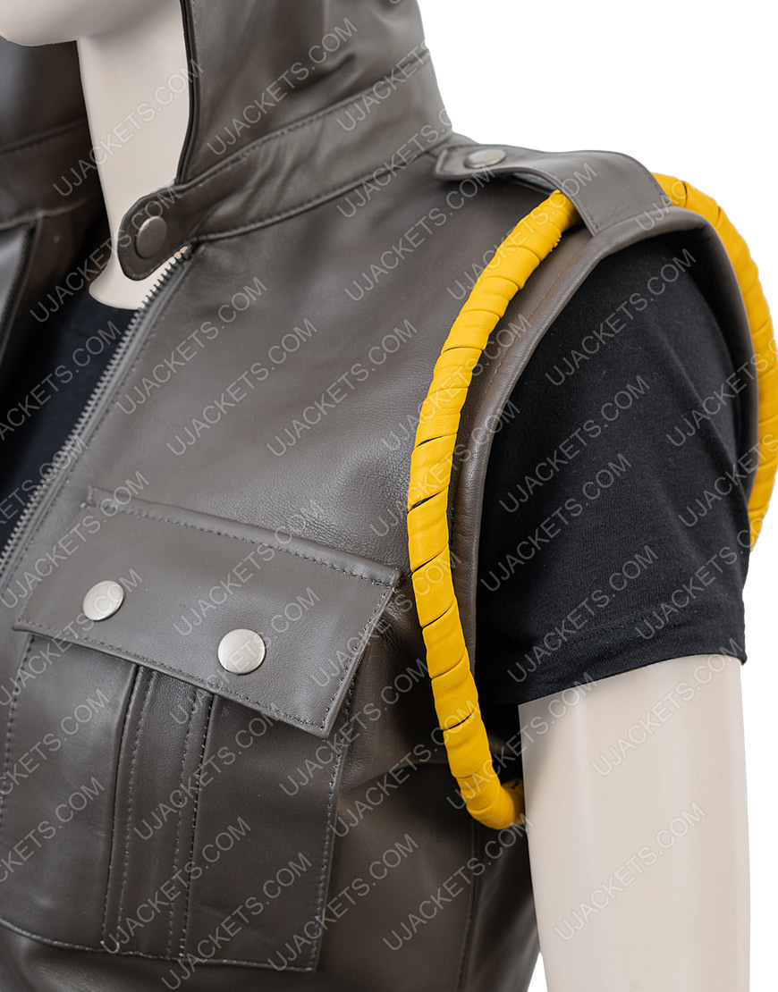 Soldier Sonya Blade Mortal Kombat X Leather Vest