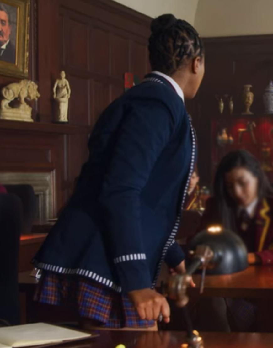 TV-Series Blood & Water Blue Wool Blend Blue Uniform Coat