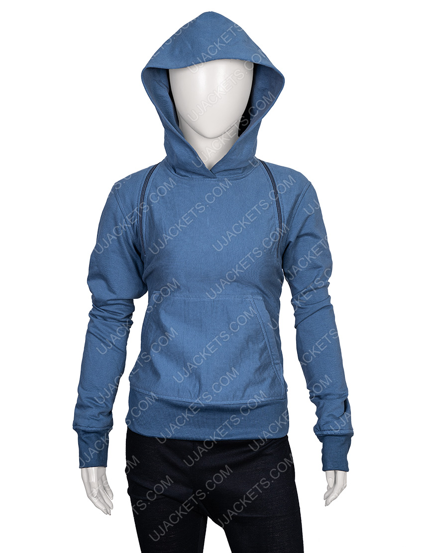 April Feel The Beat Sofia Carson Off-Shoulder Hoodie